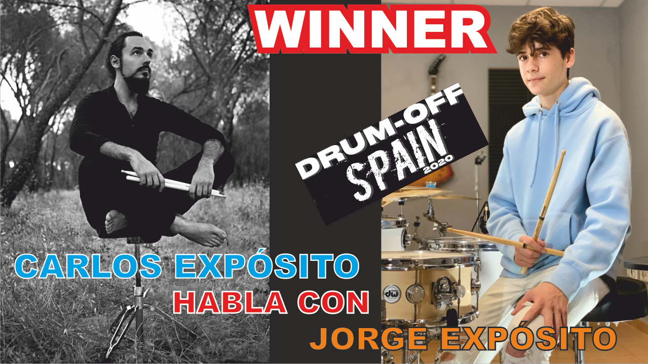 Jorge Expósito, ganador del Drum Off Spain 2020